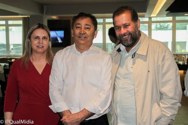 Luzia Aprígio, Aprígio e Carlos Lupi, ex-ministro do Trabalho e presidente nacional do PDT em visita a Taboão da Serra.