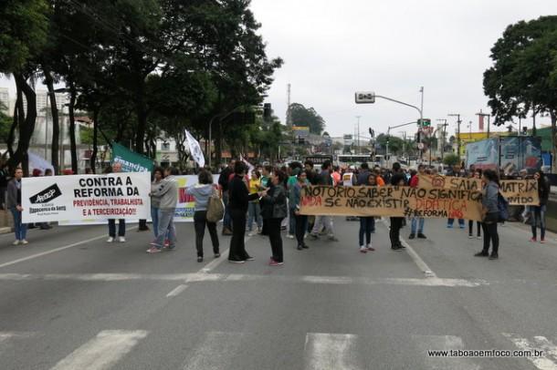 Rodovia Régis Bittencourt foi o principal ponto de protesto na região.