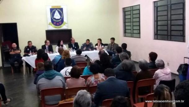 Reunião de abril do Conseg Pirajuçara reúne comunidade e autoridades de segurança.