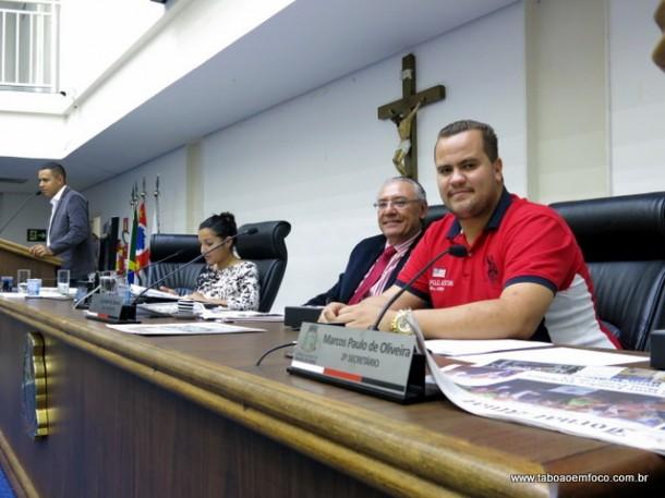 Ex-morador de Taboão da Serra, Rafael Meneguesso 'Noventa', é vice-prefeito de Arauá (SE), e visitou os vereadores taboanense.