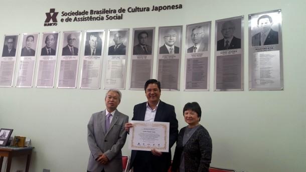 Vereador Ronaldo Onishi é celebrado por comunidade japonesa por sua eleição nas eleições de 2016. (Foto: Divulgação)