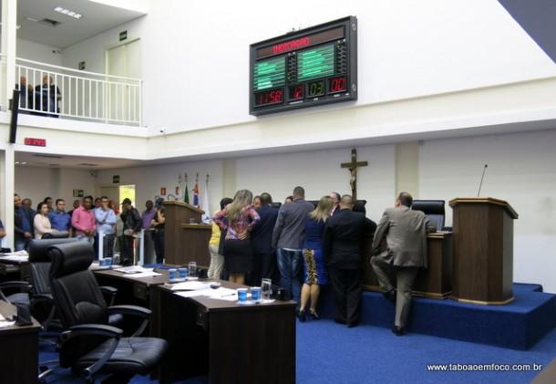 Câmara de Taboão da Serra aprova cinco projetos durante sessão.