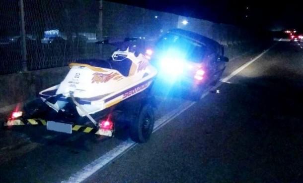 Carro da vítima, que acabou morta após uma discussão de trânsito. Principal acusado é um GCM de Embu das Artes. (Foto: Reprodução)