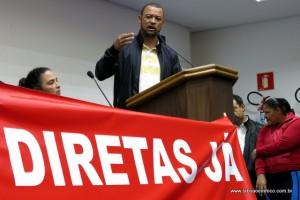 Vereador Professor Moreira foi o único político com mandato em Taboão da Serra a participar do ato.