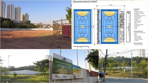 Centro de Iniciação ao Esporte começa a ser construído em Taboão da Serra. Obra deve durar um ano.
