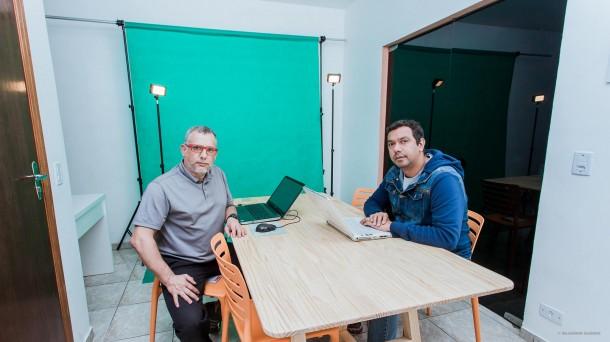 Fotografo Wladmir Raeder e Jornalista Allan dos Reis