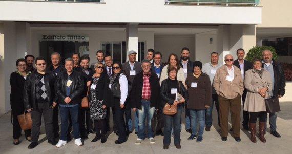 Presidentes de cooperativas habitacionais do Estado de São Paulo visitam unidades residenciais construídos pela Cooperativa Vida Nova. (Foto: Mário de Freitas)
