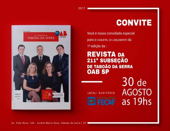 Convite OAB Revista