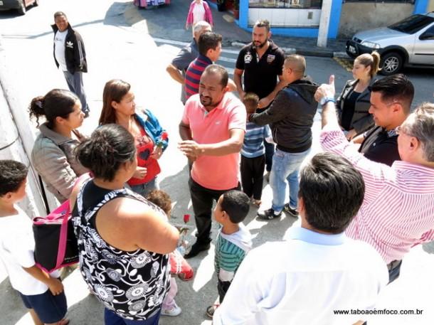 Cido aproveitou o corpo a corpo para reforçar no grupo seu desejo de disputar a Prefeitura de Taboão da Serra em 2020.