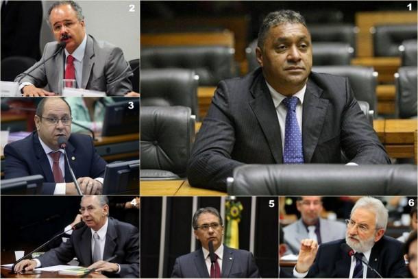 Deputados que decidiram votar Não ao arquivamento da denúncia contra o presidente Temer. (Fotos: Reprodução)
