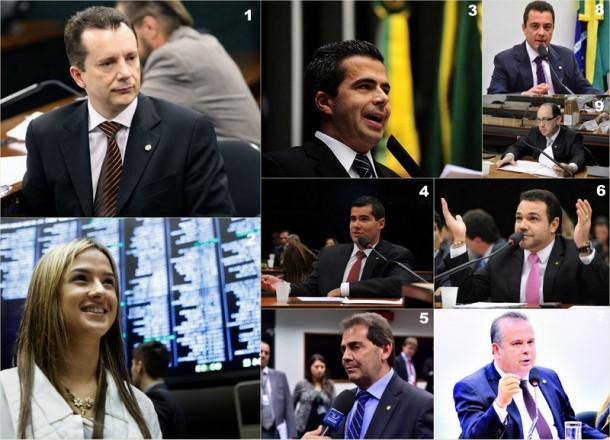 Deputados que mais tiveram votos na região e votaram pelo arquivamento da denúncia contra o presidente Temer. (Fotos: Reprodução)