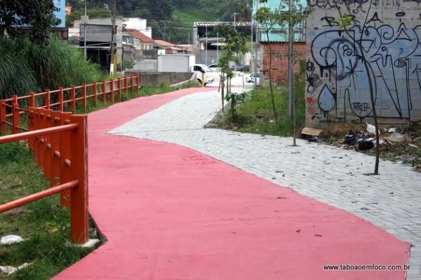 Taboão da Serra está reconstruindo parte da antiga ciclovia na região central.