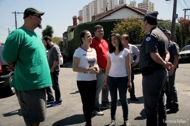 Comando da PM faz visita no Monte Alegre para discutir com moradores. (Foto: Divulgação)