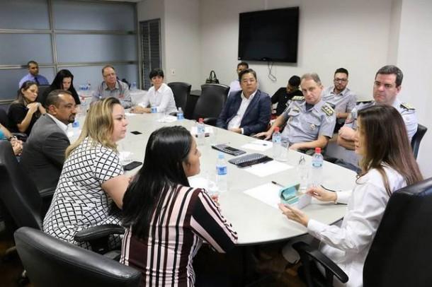 Segurança Pública em Taboão da Serra mobiliza políticos e autoridades policiais em reunião na Alesp. (Foto: Divulgação / CMTS)