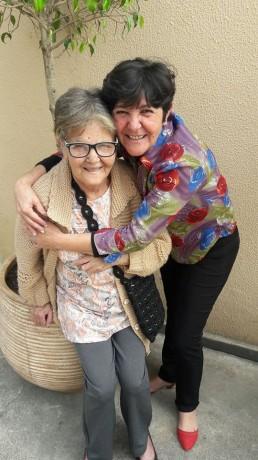 Rita e sua mãe Dona Circe, falecida na última segunda (4). (Foto: Reprodução)