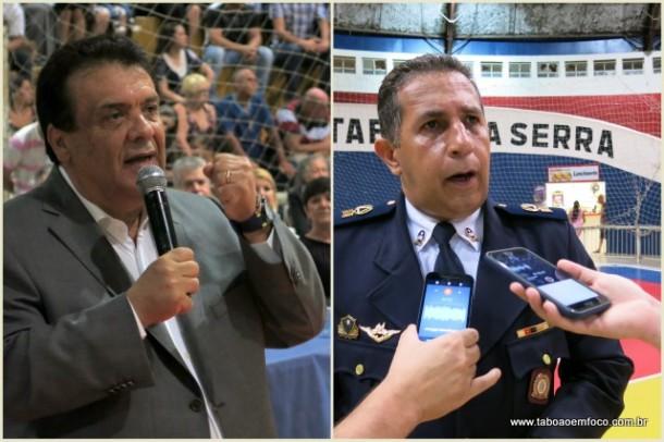 O prefeito Fernando Fernandes e o comandante da GCM Sandro Léo são contra a proposta de mudar o nome da corporação de guarda para polícia.