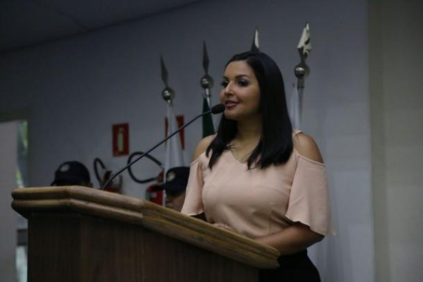 Presidente Joice Silva rebate Nóbrega e diz que sem grupo, ninguém ganha eleição. (Foto: Leandro Barreira / CMTS)