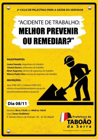 Arte Ciclo de Palestra da Prefeitura de Taboao da Serra