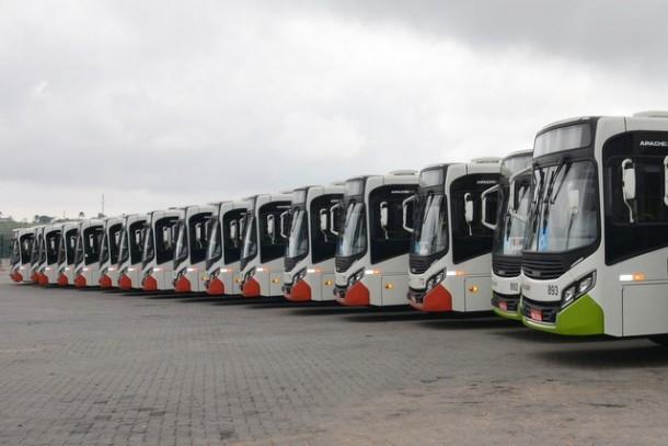 Prefeitura de Taboão da Serra 'recusa' ônibus novos para não impactar no valor da próxima tarifa de ônibus. (Foto: Divulgação / CMTS)