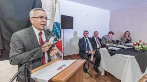 Dr. Moacir Tertulino discursa durante inauguração da Casa da Advocacia. (Foto: Wladimir Raeder/Divulgação/OAB Taboão)
