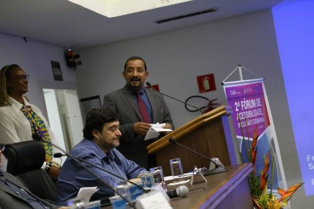 Vereador Cido é o organizador do 2º Fórum de Acessibilidade em Taboão da Serra. (Foto: Divulgação)