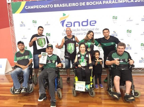 Atletas taboanenses conquistaram medalha de ouro e bronze no campeonato Brasileiro Individual de Bocha Adaptada (Foto: Divulgação)