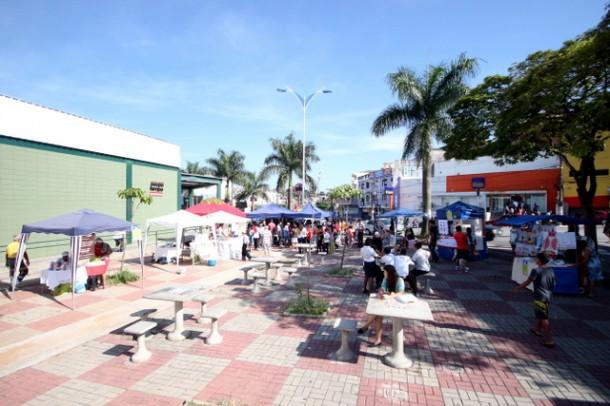 Feira de artesanato, arte e gastronomia acontece todas as quartas e sextas, das 9h às 17h; sábados, das 9h às 14h, ao lado do Poupatempo de Taboão. (Foto: Ricardo Vaz / PMTS)