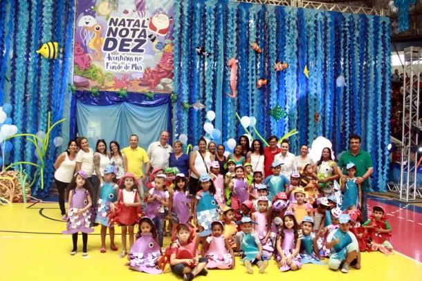 Mais uma edição do Natal Nota 10 mobiliza alunos da rede municipal de Taboão da Serra. (Foto: PMTS)