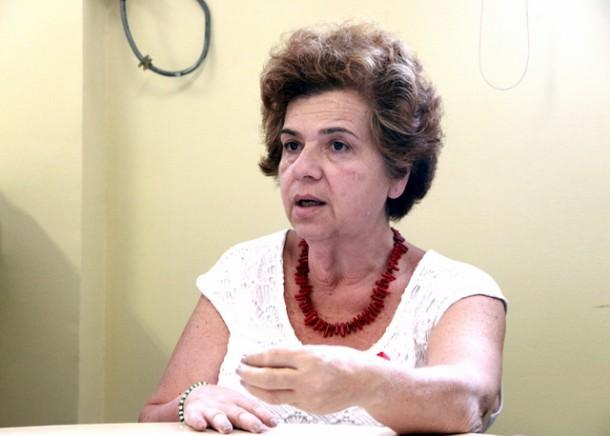 Anúncio de campanha de vacinação contra febre amarela foi feito pela secretária de saúde Raquel Zaicaner durante entrevista coletiva. (Foto: Ricardo Vaz / PMTS)