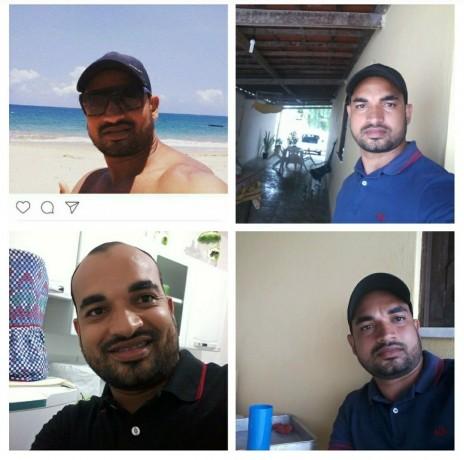 Fotos de Thiego Santana Leal, que está desaparecido desde o dia 20 de setembro. (Reprodução)