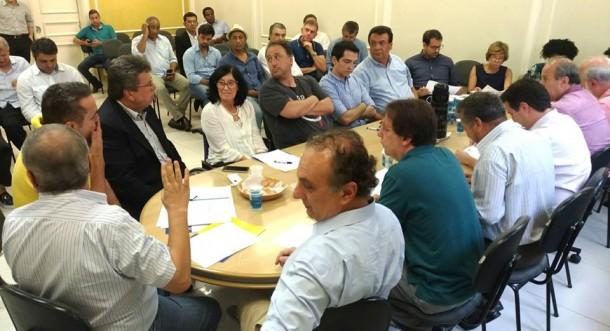 Reunião da executiva estadual do PSDB em janeiro. (Foto: Reprodução)