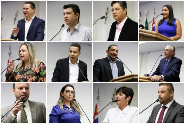 Os 12 vereadores governistas criticam o prefeito Fernando Fernandes por cancelar convênio com ONG, que atende crianças. (Fotos: Leandro Barrera / CMTS)