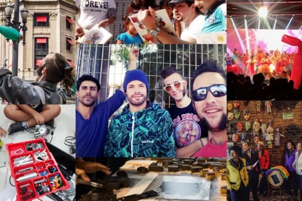 Atrações do Circuito Sesc de Artes que se apresenta em Taboão da Serra neste sábado (21). (Fotos: Divulgação)