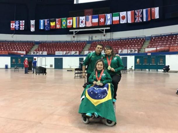 A atleta taboanense Evani Calado conquistou a medalha ouro no Open Mundial de Bocha no Canadá. (Foto: Divulgação)