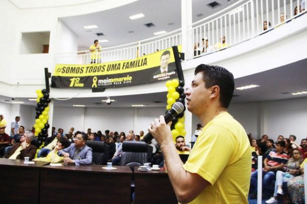 Evento organizado pelo vereador Marcos Paulo visa diminuir mortes no trânsito de Taboão da Serra. (Foto: Divulgação)
