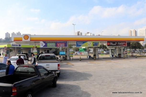 No Shopping Taboão, combustível estava prestes a acabar na manhã desta quinta (24).