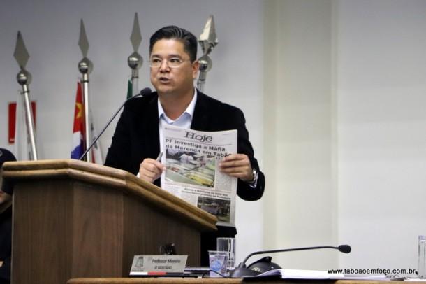 Onishi rebate matéria de jornal e defende o governo Fernando Fernandes.
