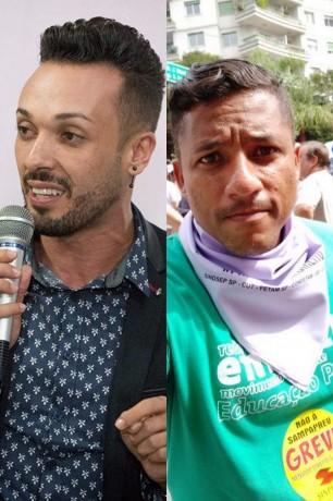Wanderley Bressan e Rodrigo Martins, ex-aliados no PT, trocam farpas pelas redes sociais. (Fotos: Reprodução)