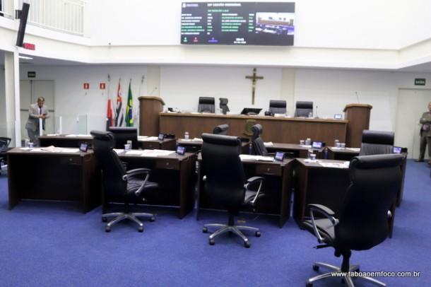 Das 13 horas de sessão, o plenário ficou em sua maioria assim, sem vereadores.