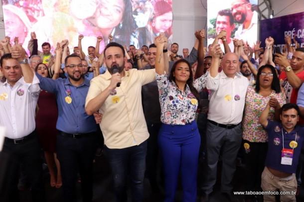 Evento em Embu das Artes confirma pré-candidaturas de Ely Santos (a deputada federal) e Hugo Prado (a deputado estadual).  Ney Santos é o principal cabo eleitoral da dupla.