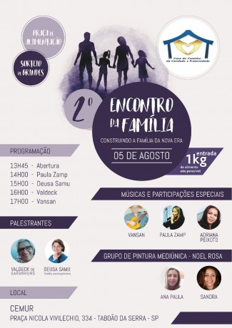 Convite da Casa do Caminho da Caridade e Fraternidade 2018