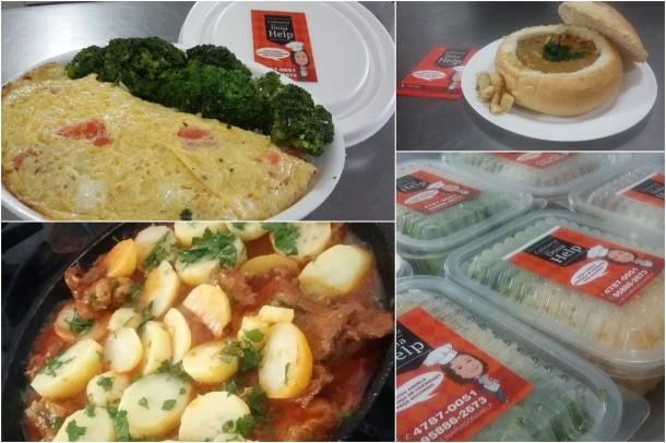 Cardápio da Culinária Dona Help é diversificado. (Foto: Divulgação)
