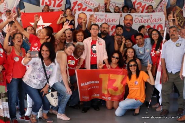 Luiz Marinho no Sindicato dos Metalúrgicos com correligionários em Taboão da Serra.