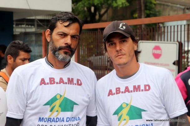 Washington Luiz e Leandro Cavalca são líderes da Associação A.B.A.M.D., que ocupa uma das áreas a ser reintegrada em breve.