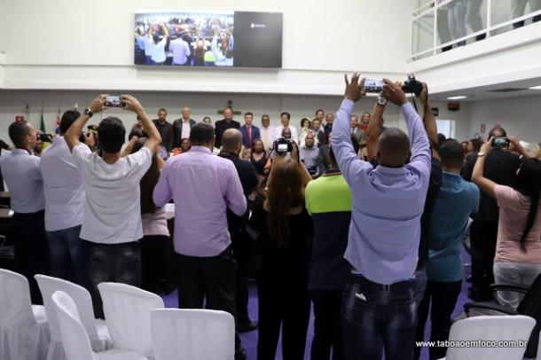 Entrega da Medalha Zumbi dos Palmares em Taboão da Serra. Assessoria de imprensa proibiu que jornalistas entrassem no plenário para fazer o registro fotográfico.