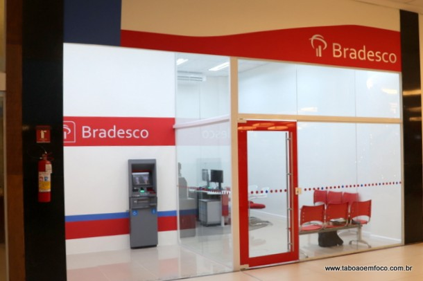 Posto do Banco Bradesco no Taboao Plaza Outlet