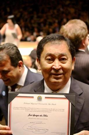 Aprígio é diplomado pelo TRE-SP e vai assumir o primeiro mandato como deputado estadual. (Foto: Reprodução)