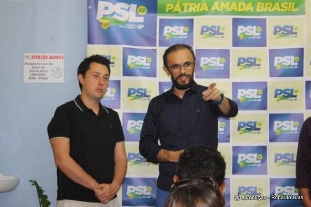 Ronaldo Dias está na frente pela disputa da presidência do PSL, mas tem concorrentes.