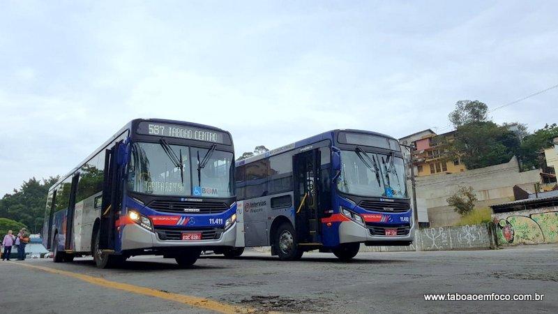 Linha 587 que liga Taboão ao metrô Campo Limpo ganha ônibus novos com ar-condicionado