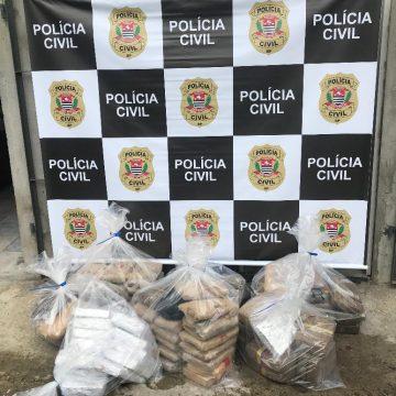 Polícia Civil de Taboão prende 7 e apreende 100 quilos de skank